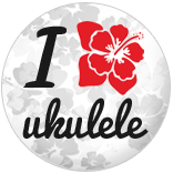 I Heart Ukulele Badge